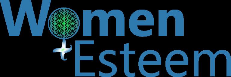 Logo Women Esteem - 016 - salvat albastru delta guide - ebrima - versiune cerc ingrosata - pe albastru